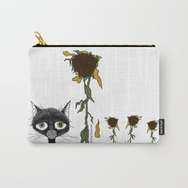 Sad is one complicated emotion of a cat! Carry-All Pouch