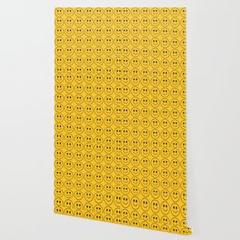 Smiley Face Pattern - Super Yellow Variant Wallpaper