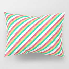 Candy Inclined Stripes Pillow Sham