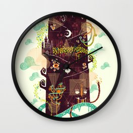 The Ominous and Ghastly Mont Noir Wall Clock