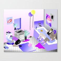 Bathroom Party Canvas Print