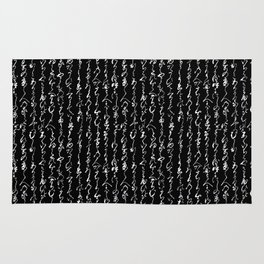Ancient Japanese Calligraphy // Black Rug