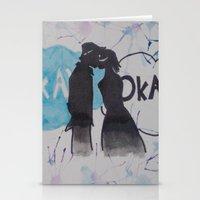 okay Stationery Cards featuring Okay.  by Oksana's Art