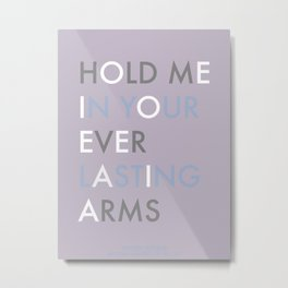 Vampire Weekend - HOLD ME IN YOUR EVERLASTING ARMS Metal Print