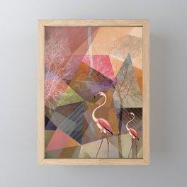 FLAMINGOS P23-C Framed Mini Art Print