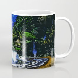 Tardis Art And The Moon Shine Coffee Mug