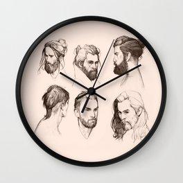 Bearded faces Wall Clock