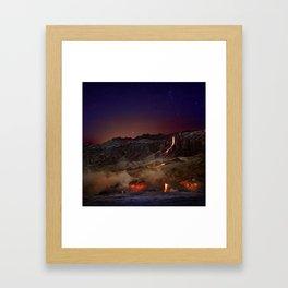 Kilauea Volcano Lava Flow. 6 Framed Art Print