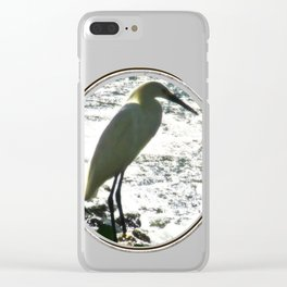 The Egret Clear iPhone Case