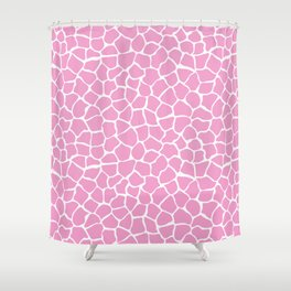 Beautiful Girly Rose Africa Giraffe Animal Pattern Shower Curtain