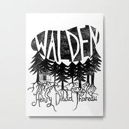 Walden (Black & White) Metal Print