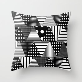 Triangles Patchwork #2 Throw Pillow