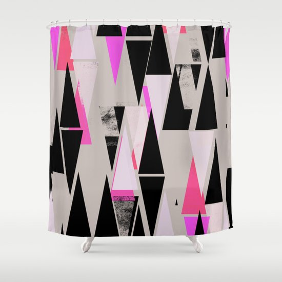 Pink Triangles II Shower Curtain