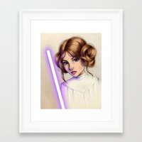 princess leia Framed Art Prints featuring Princess Leia by kristen keller reeves