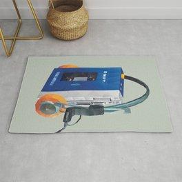 Sony Walkman TPS-L2 with MDR-5A Headphone Polygon Art Rug