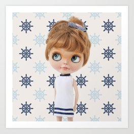 NAVY BLYTHE DOLL CHIO BY ERREGIRO Art Print