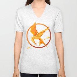 Golden Bird Unisex V-Neck