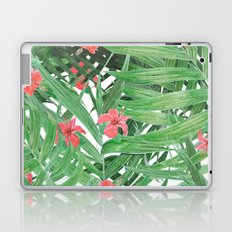 Ferns and red flowers Laptop & iPad Skin