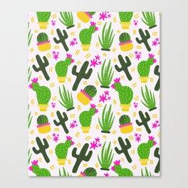 Cactus Pattern of Succulents Canvas Print
