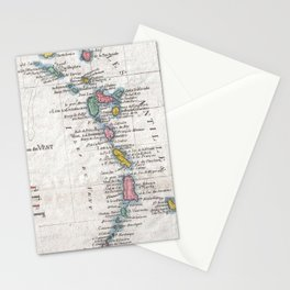 Vintage Map of The Antilles Islands (1780) Stationery Cards