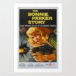 The Bonnie Parker Story, 1959 (Vintage Movie Poster) Art Print
