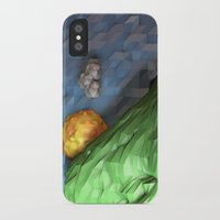low poly iPhone & iPod Cases featuring Low Poly Sunset by cnrgrn