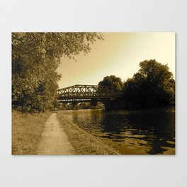Bridge over the Water  Canvas Print