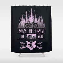 Forest Ride Shower Curtain