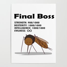 Final Boss - Black Letters Poster