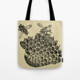 Vintage Bee & Honeycomb Tote Bag