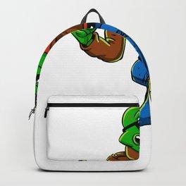 Cool frog  cartoon illustration Backpack