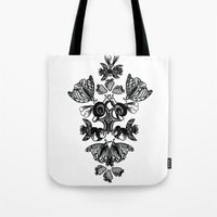insects Tote Bags featuring Insects by Sierra Neale