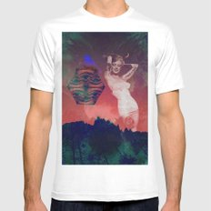 False Colored Eyes Mens Fitted Tee MEDIUM White