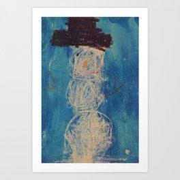 Kyles Snowman Art Print