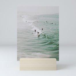 lets surf iv / venice beach, california Mini Art Print