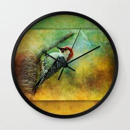 Woodpecker on Cherry Tree ~ Ginkelmier Inspired Wall Clock