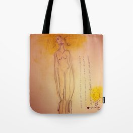 Lucille, The First Human Angel Tote Bag
