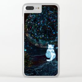 BLUE CHRISTMAS STARGAZERS ~ BACK WHERE MY HEART IS LONGING TO BE Clear iPhone Case