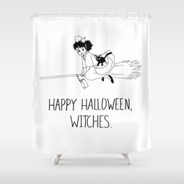 Happy Halloween, Witches! Shower Curtain