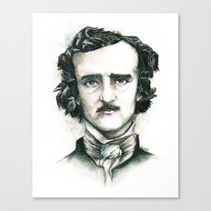 Edgar Allan Poe and Ravens Canvas Print