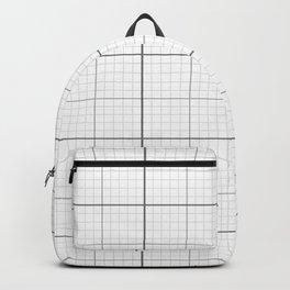 Grey Millimeter Paper Backpack