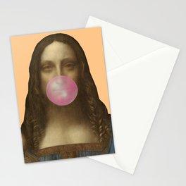 Salvator Mundi Chewing Bubblegum (Leonardo da Vinci)  Stationery Cards