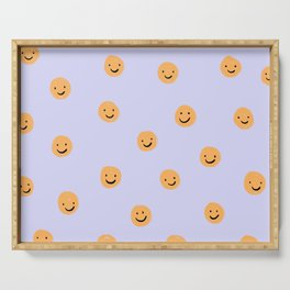 Purple Smiley Face Serving Tray