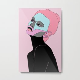 Woman in color Metal Print