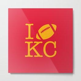 I love Kansas City Football Metal Print