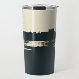 Silhouette des Dresdener Elbufers Travel Mug