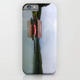 Maligne Lake Boathouse iPhone Case