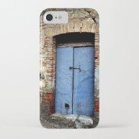 door iPhone & iPod Cases featuring door by  Agostino Lo Coco