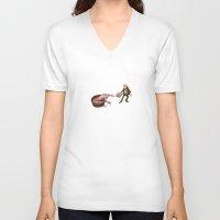 evolution V-neck T-shirts featuring Evolution by Lee Grace Illustration