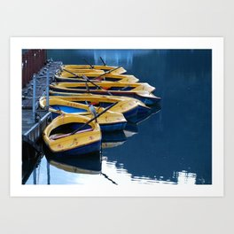 Early Morning at the Lake Art Print